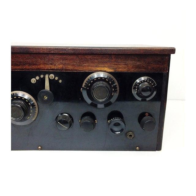 1920s 4 Tube Regen Wood Case Radio & C. Brandes Headphones - Image 3 of 10