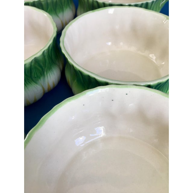 Green Vintage Georges Briard l'Oignon Soup Bowls- Set of 6 For Sale - Image 8 of 12