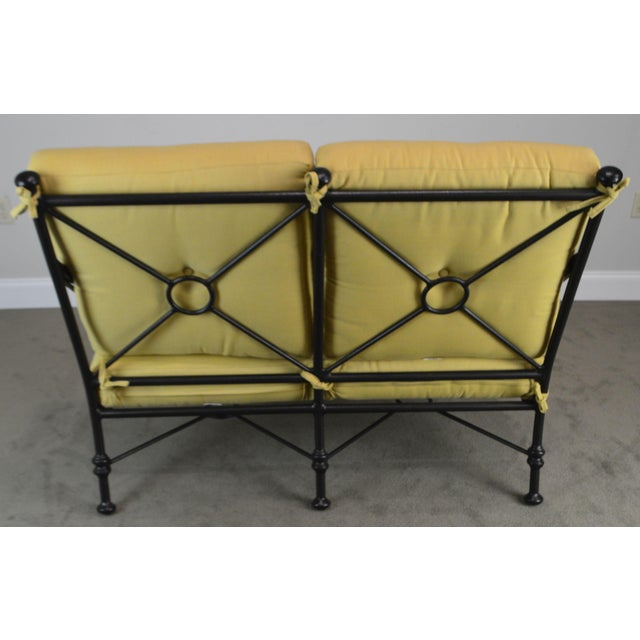 Giacometti Style Patio Love Seat by Winston For Sale In Philadelphia - Image 6 of 13