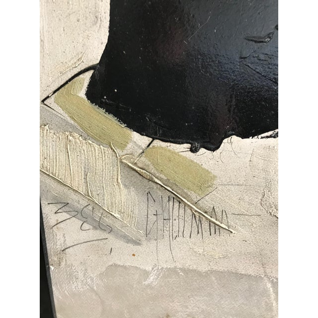 Framed Black and White Abstract Painting by Artist Graham Harmon ...