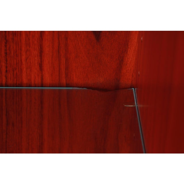 Skovby Danish Modern Rosewood Glass Front Bookcase on Hairpin Legs For Sale - Image 11 of 12