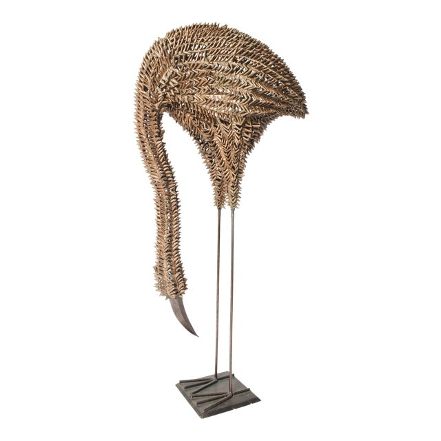 Bamboo and Metal Emu Sculpture - Image 1 of 5
