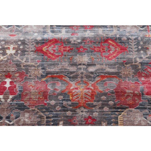 Picasso Soft Turkish Red Rug - 5′ × 7′7″ - Image 4 of 5