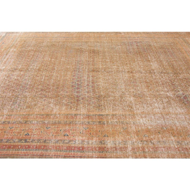 """1910s Traditional Apadana-Antique Persian Distressed Rug - 6'8"""" X 10'5"""" For Sale In New York - Image 6 of 10"""
