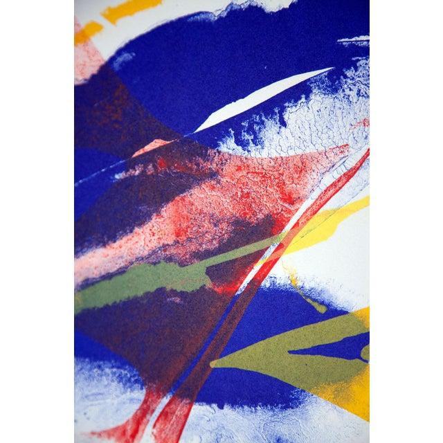 Modern Modern Paul Jenkins Lithograph Original, Hand Signed 1965 Vélin D'Rives +Framing For Sale - Image 3 of 4