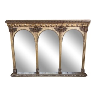 Neoclassical Arch Detail Gilded Mirror For Sale