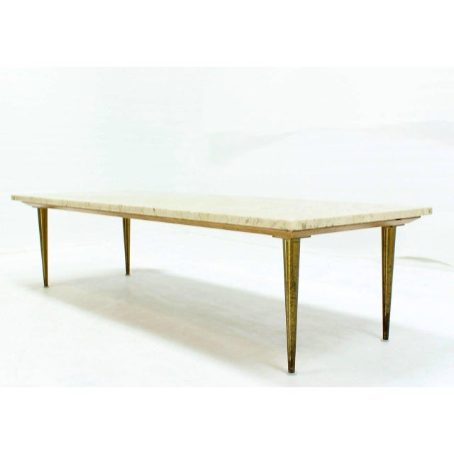 Mid-Century Modern Mid-Century Modern Marble Coffee Table For Sale - Image 3 of 8