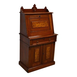 Antique 1800's Victorian Walnut Secretary Desk