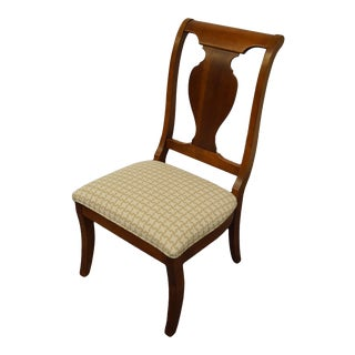 Stanley Furniture Encore Collection Cherry Side Chair For Sale