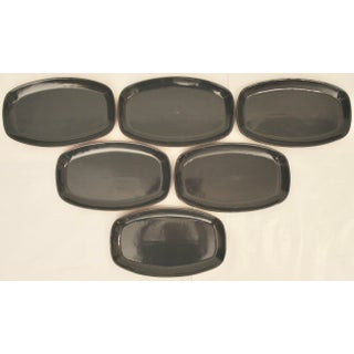 Southwest Collection Navy Blue Frankoma Serving Platters - Set of 6 Preview