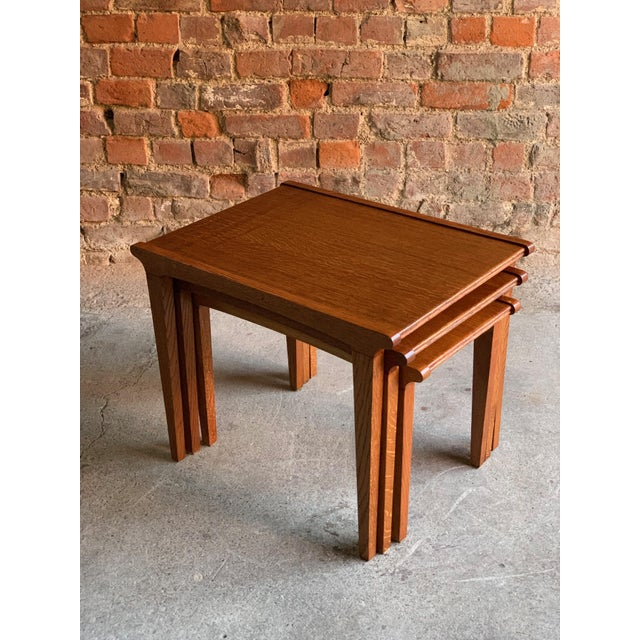 Wood Midcentury Gordon Russell Nest of Tables Set of Three Oak, 1950s - Set of 3 For Sale - Image 7 of 13