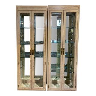 Drexel Heritage Corinthian Curio Cabinets - a Pair For Sale