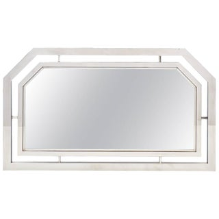 Vintage French Chrome Mirror For Sale