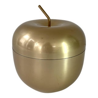 Vintage Golden Aluminum Apple Ice Bucket