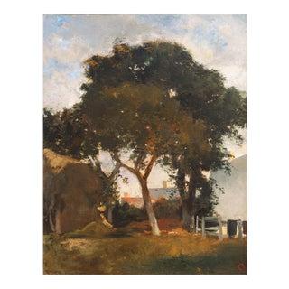 'Afternoon Sun' by Eugène Fromentin, Circa 1870, Metropolitan Museum of Art, Musée Louvre, Large Barbizon Oil For Sale