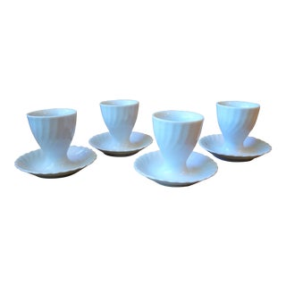 Kaiser Vintage White Egg Cups - Set of 4 For Sale