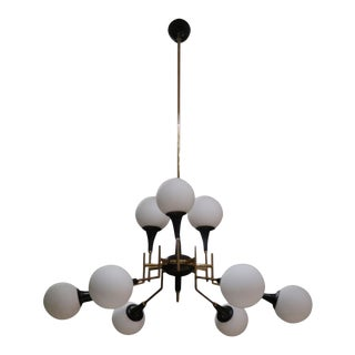 An Original Ceiling Lamp by Stilnovo, Italy 50' For Sale