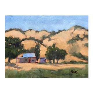 Cottage Oil Painting of Pierce Road, Benicia - Plein Air For Sale
