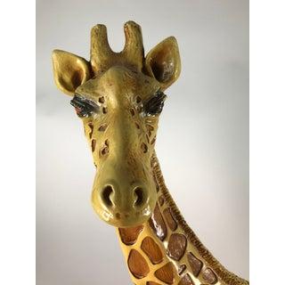 1970s Vintage Marwal Chalkware Giraffe Sculpture Preview
