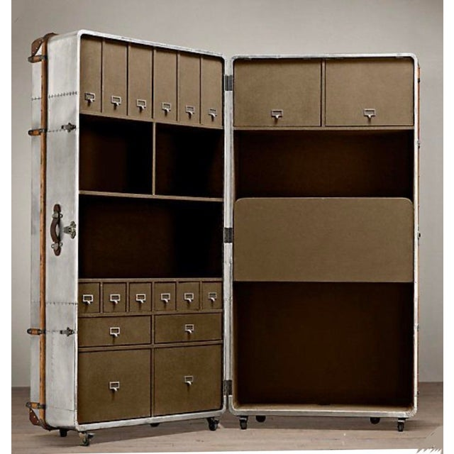 Metal Sheet Restored Office Trunk For Sale - Image 11 of 11