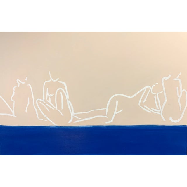 """Blue """"La Mer""""Contemporary Painting by Lindsey Weicht For Sale - Image 8 of 8"""