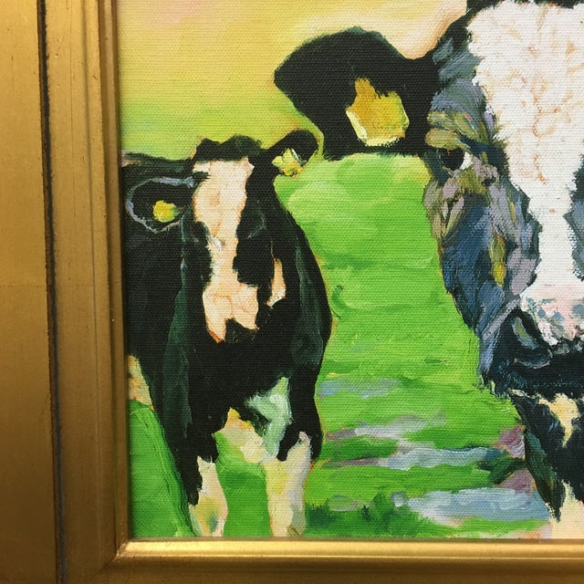 Contemporary Contemporary Cow Painting For Sale - Image 3 of 6