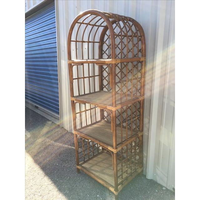 Rattan & Wicker Boho Chic Shelf Unit For Sale - Image 9 of 10