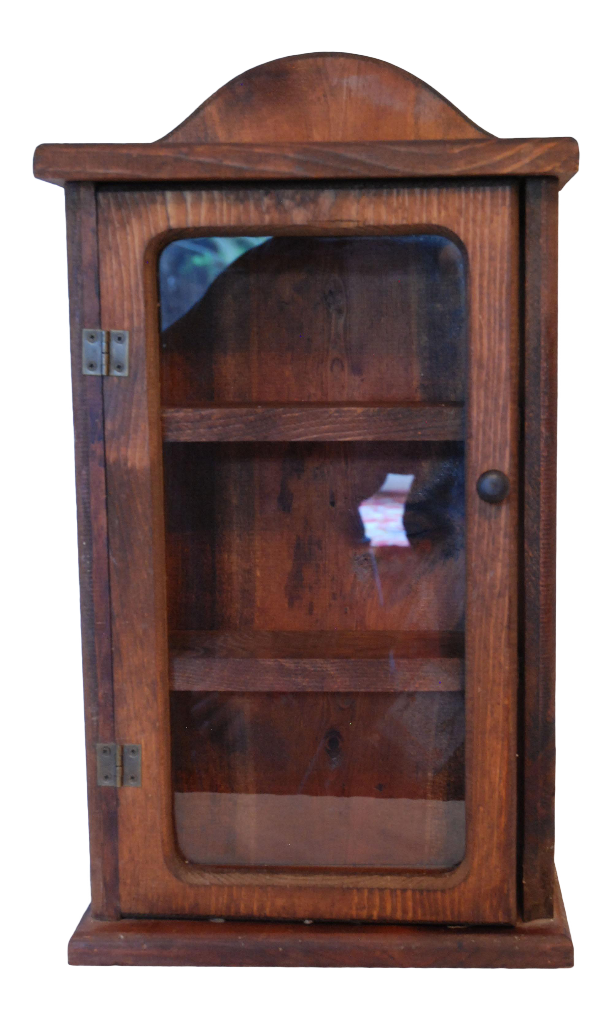 Antique Rustic Wood Spice Wall Cabinet