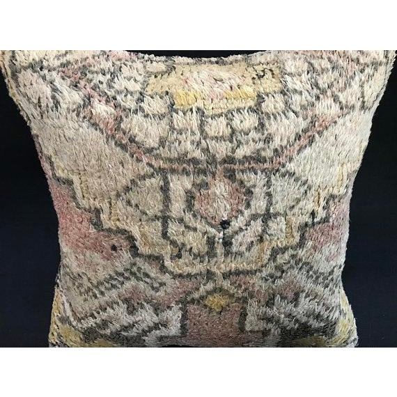 1960s Turkish Anatolian Oushak Wool Pillow Case For Sale - Image 5 of 9