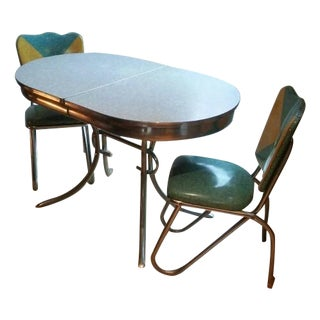 Vintage 1950's Mid-Century Dining Set - Set of 3 For Sale
