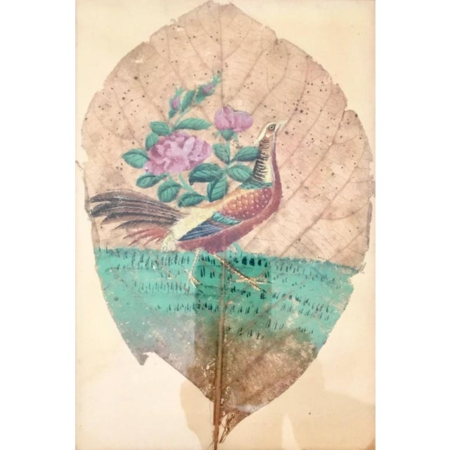 American Classical Mid 19th Century Tobacco Leaf Painting For Sale - Image 3 of 6