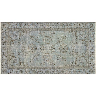 "Nalbandian - 1960s Turkish Overdyed Rug - 3'9"" X 6'10"" For Sale"