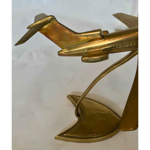 Brass Boeing Airplane Display Model For Sale - Image 4 of 6