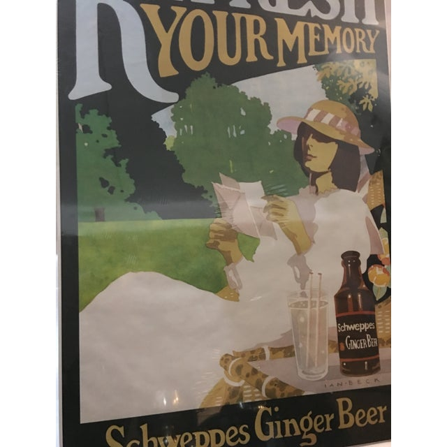 Vintage English Schweppes Ginger Beer Poster - Image 3 of 8