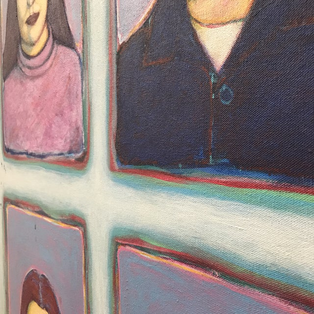 """Greg Favors """"Sixth Grade Portraits"""" Acrylic on Canvas Painting For Sale - Image 4 of 5"""