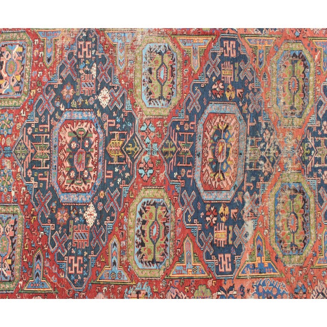 Keivan Woven Arts, S12-0409, Late 19th Century Antique Caucasian Sumac Rug - 7′3″ × 10′8″ For Sale - Image 4 of 7