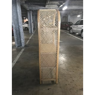 Vintage Rattan & Wicker Arched Shelving Unit Preview