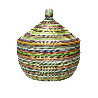 "Basket W/ Lid Senegal West Africa 13.5"" Preview"