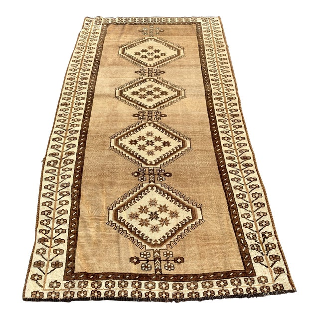 "1950's Vintage Persian Gabbeh Area Rug 4'x7'9"" For Sale"