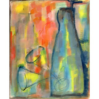 Abstract Bottles, Watercolor on Thick Stock Paper Circa 1960 For Sale