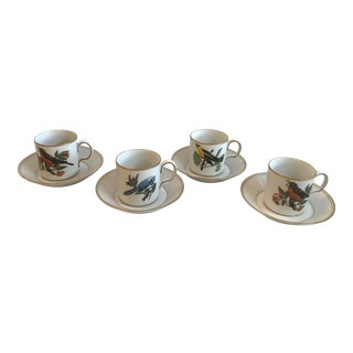 Vintage Fitz and Floyd for Neiman Marcus Demitasse - Service for 4 For Sale