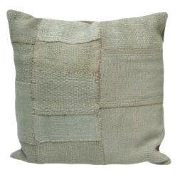 Square Celadon Kilim Cushion For Sale
