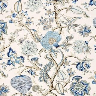 Scalamandre Pondicherry Linen Print Fabric Sample For Sale