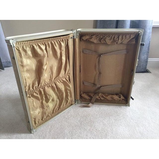 Tan Vintage Royal Traveler Suitcase For Sale - Image 8 of 11