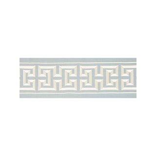 Scalamandre Imperial Embroidered Tape, Sky Fabric For Sale