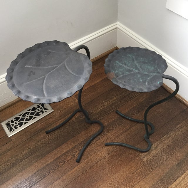Salterini Lily Pad Nesting Tables - a Pair - Image 5 of 9