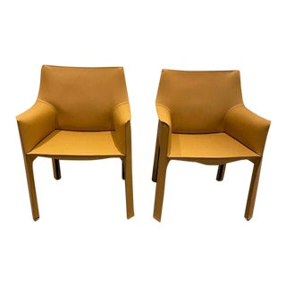 Cassina 413 Cab Armchairs - A Pair For Sale