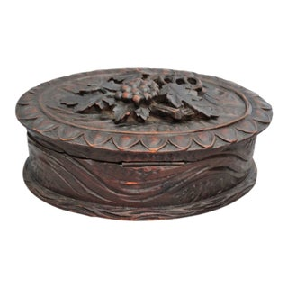 Hand Carved Black Forest Box For Sale