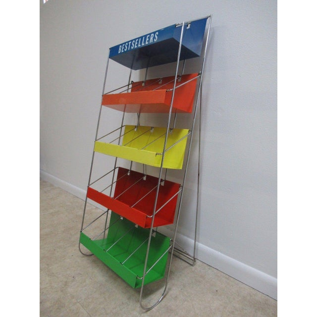 Vintage Chrome Multicolor Book Rack - Image 11 of 11