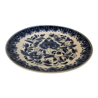"Asian Style Blue & White Floral Design 10.25""d Platen For Sale"